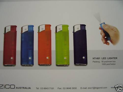 LIGHTERS-WHOLESALE-LOT-DISPLAY-OF-FIFTY-LED-TORCH-TYPE