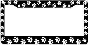 image is loading black paw prints critter dog cat license plate - Dog License Plate Frames
