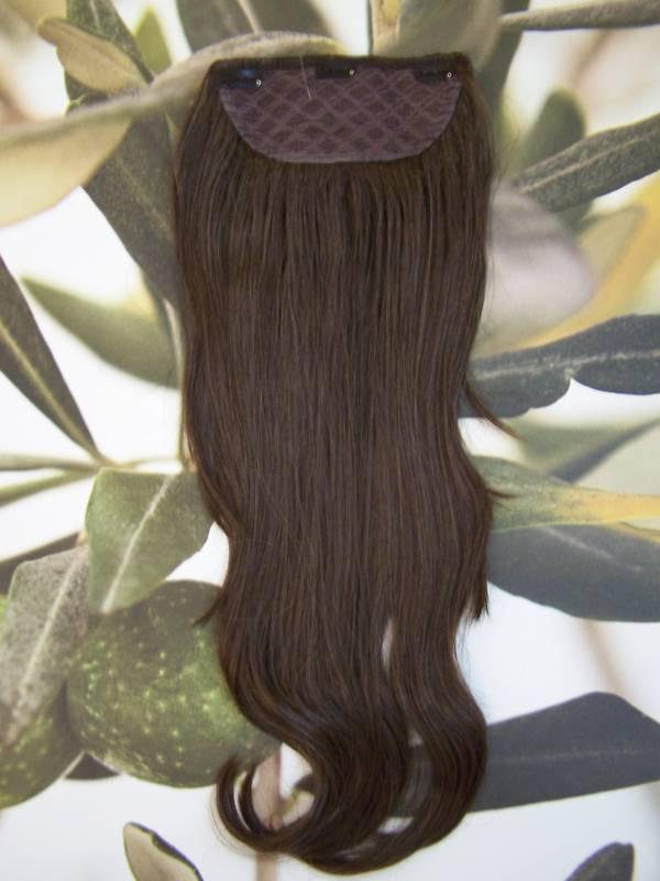 Dark Brown 1 Piece Clip In Hair Extension 25long 6 Kims Wigs Uk