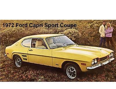 1972 Ford Capri Sport Coupe Refrigerator Magnet