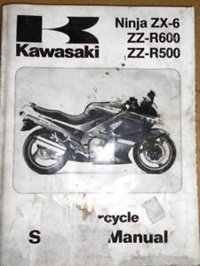kawasaki service manual 1990 zx500 zx600 ninja zz r600 zz. Black Bedroom Furniture Sets. Home Design Ideas