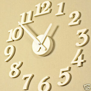 HIMORI-Home-Decoration-Modern-DIY-Wall-Clock-White