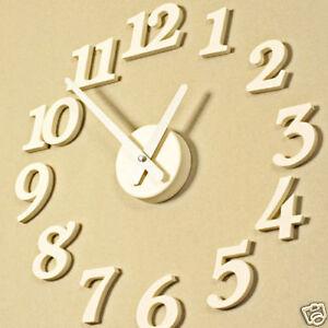 HIMORI-Home-Decoration-Modern-DIY-Wall-Clock-White