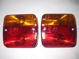 TAIL-LIGHTS-TRAILER-UTE-CAR-BUS-NUMBER-PLATE-12V-Stop-Tail-Indicator-LAMP