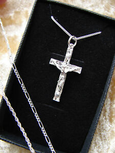 Large crucifix chain adults mens ladies 925 solid silver cross image is loading large crucifix chain adults mens ladies 925 solid mozeypictures Image collections
