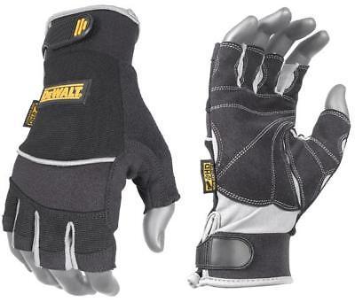 DeWalt Work Gloves Fingerless Technicians DPG230 XL
