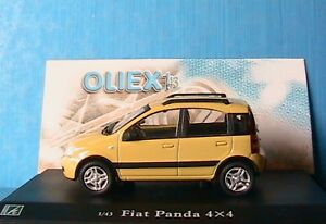 nouvelle fiat panda 4x4 jaune oliex 1 43 new yellow neu ebay. Black Bedroom Furniture Sets. Home Design Ideas