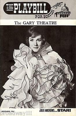 """Julie Andrews """"STAR"""" (Gertrude Lawrence) Richard Crenna 1968 Movie Program"""