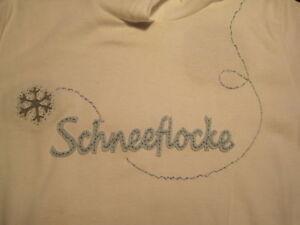 Schneeflocke Designer Kapuze Shirt weiß Neu M 38