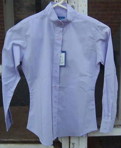 Miku Basics Light Purple Long Sleeve Ratcatcher Horse Show Shirt Girls 8