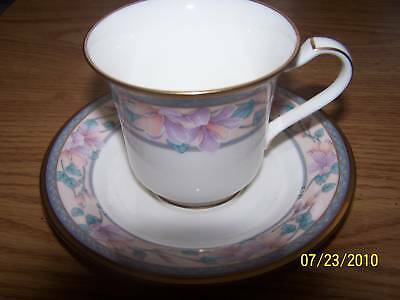 Noritake Fine China  Embassy Suite Pattern Cup   Saucer
