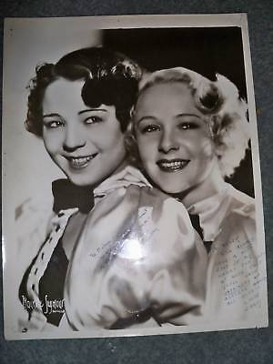 Bentay Sisters  Hand Signed 8 X 10 Photo   Actors
