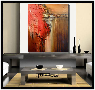 Painting ABSTRACT MODERN CANVAS WALL ART 36x30 Large US artist ELOISExxx