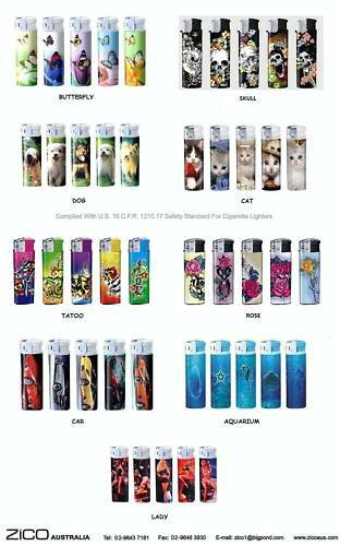 LIGHTERS-ELECTRONIC-REFILLABLE-ASSORTED-DESIGNS-QTY-5