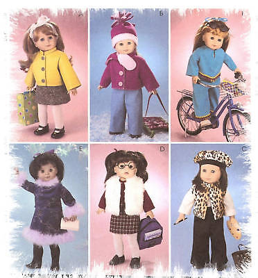 Winter Clothes Pattern Mccalls 3474 Easy Warm Gear Vest Beret Fits Ag 18in Doll