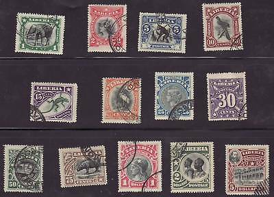 Liberia # 101-13 Complete Set of 1906 Fauna