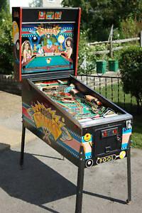 1990-Bally-POOL-SHARKS-pinball-machine-Nice-Big-Hair