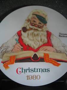 Norman-Rockwell-CHECKING-HIS-LIST-1980-Santa-NIB-New-Old-Stock