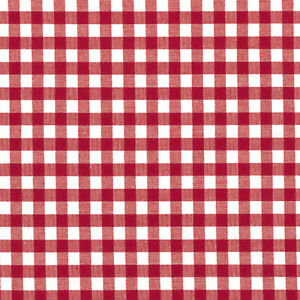 YARN-DYED-CHAMBRAY-COTTON-CLOTHES-FABRIC-SOLID-GINGHAM-CHECK-RED-MATCHING-44W