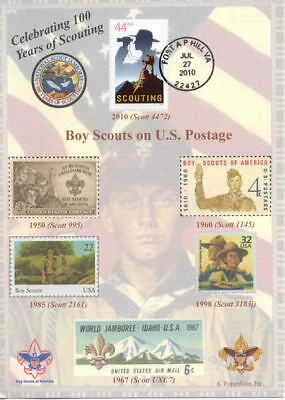 """BOY SCOUTS: Celebrating 100 Years of SCOUTING 5"""" x 7"""" First Day Cover"""