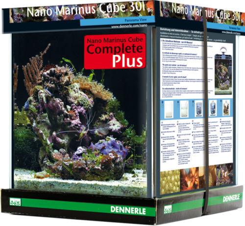 Dennerle Nano Cube Marinus Complete Plus 30l  Meerwasser Mini-Aquarium Salzwasse