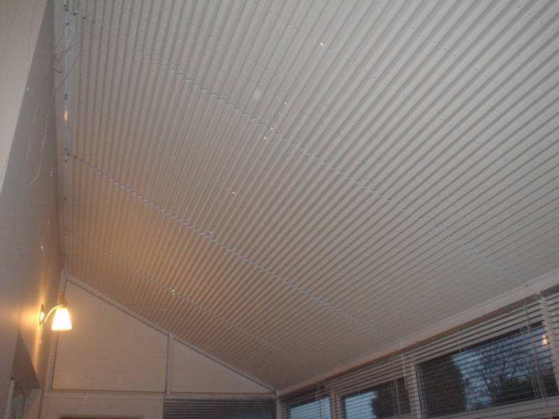 PLEATED ROOF & WINDOW BLINDS - LEAN TO CONSERVATORY