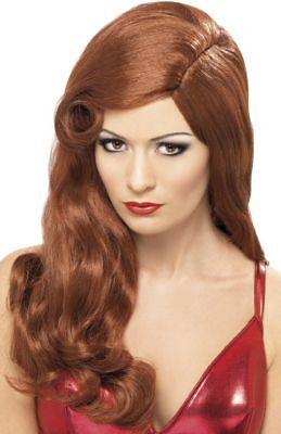 New Long Wavy Red Jessica Rabbit Fancy Dress Costume Film Star Wig P5807 ()