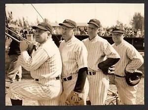 1937 NY Yankees Baseball Coaching Staff Beautiful Photo