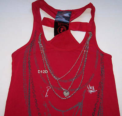 Alice-In-Wonderland-Ladies-Red-Chain-Singlet-Size-S-New
