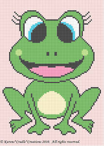 Crochet-Patterns-FROG-Baby-Girl-Afghan-Pattern