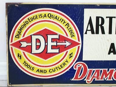 Vintage Keen Kutter Sign DIAMOND EDGE TOOL Knife Missouri Farm Hardware