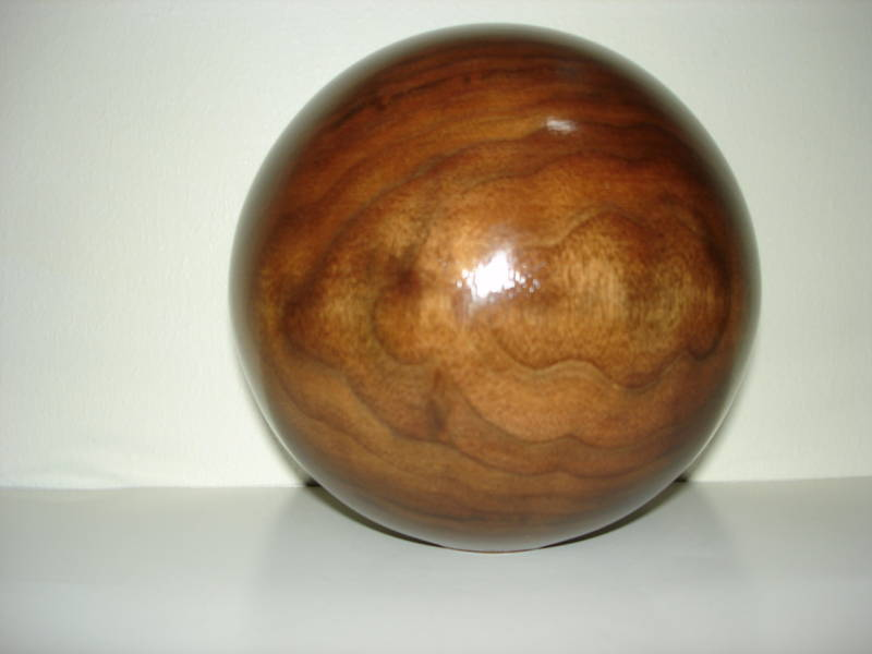 "UNFINISHED 4"" DIA. WALNUT, OAK, MAPLE, CHERRY WOOD BALL NEWEL POST FINIAL#223"