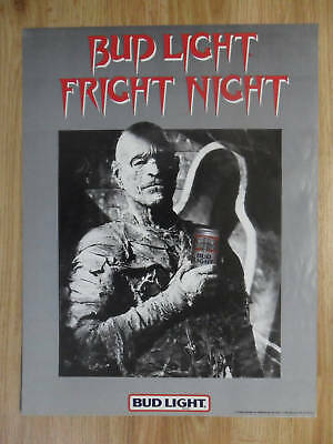 Vintage Bud Lite Beer Fright Night Poster ~ Horror Movie Monster THE MUMMY