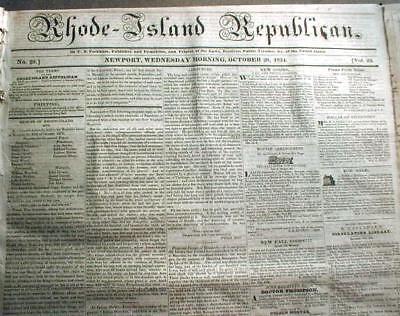 Lot of 30 ORIGINAL 1800-1860 US newspapers PRE CIVIL WAR : 150-210 years old