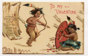 039-07-CLAPSADDLE-EMBOSSED-INDIAN-KIDS-OLD-POSTCARD-PC6792
