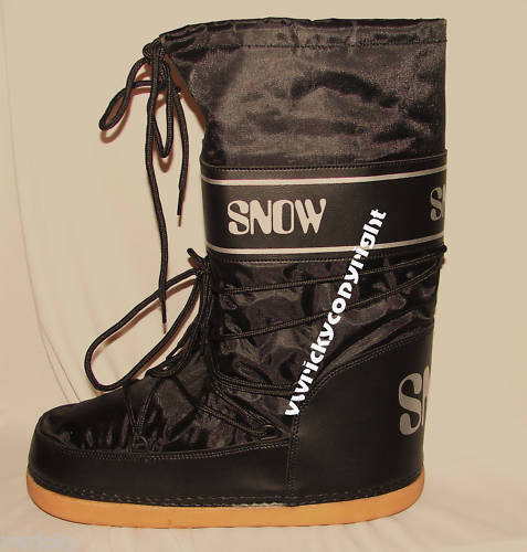 Black Apres Ski Boots Size 32-34 Size 1 - 2 Snow Boot Style Luna
