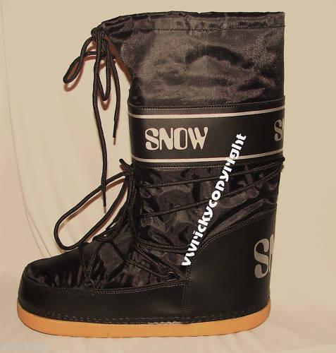 Black Apres Ski Boots Size 38/40 Uk 5 - 6 1/5 Snow Boot Style