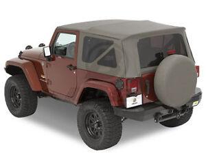 2010 2012 jeep wrangler jk 2 door khaki replacement soft top. Black Bedroom Furniture Sets. Home Design Ideas