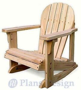 details about child adirondack rocking chair plans trace cut odf22