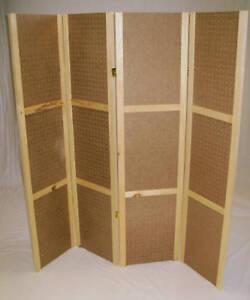 Pegboard-Display-58-034-T-4-Panels-Hinged-Folds-Flat-New