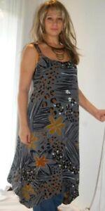 gray dress top asym lagenlook OS- M L XL 1X 2X zo479