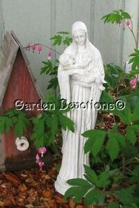 Image Is Loading Madonna And Child Slim Mary Garden Statue