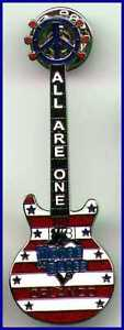 HOUSE-BLUES-HOB-ORLANDO-034-ALL-ARE-ONE-034-PEACE-GUITAR-PIN