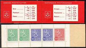 Slot-Machine-Booklet-Finland-Lion-Type-1963-MNH-No-4