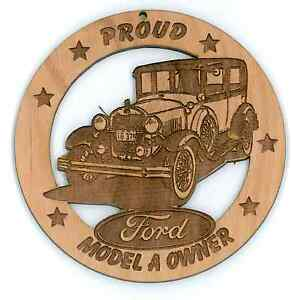 1928-29-Ford-Model-A-Sedan-Wood-Ornament-Engraved