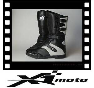 NEW X1 moto cross BOOTS Dirt motor bike SIZE 12 SILVER