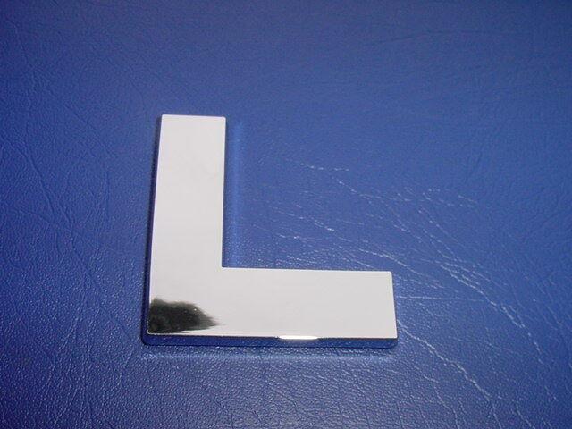 Formula Boat Logo Emblem Chrome Letter 2-5/8 High l