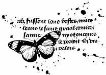 Butterfly-vintage-script-unmounted-rubber-stamp-C-Pie