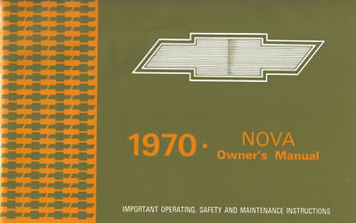 1970 70 Nova Owners Manual