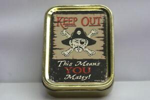 Tobacco-Cigarette-Storage-2oz-Tin-Pirate-Skull-Crossbones-Funny-Humorous